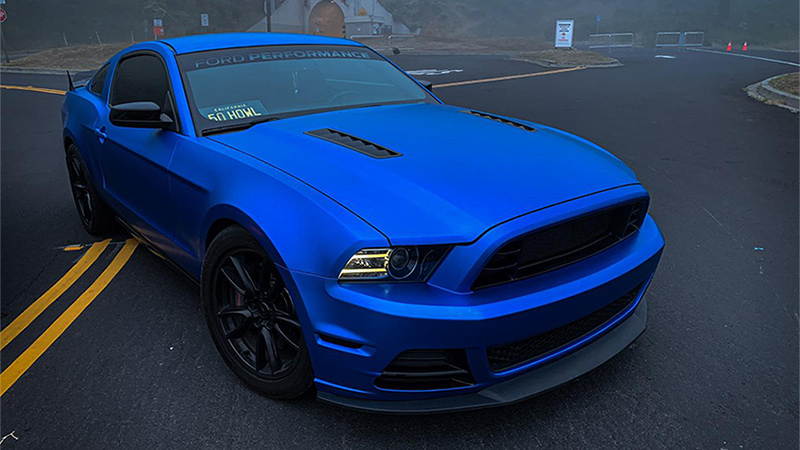 mustang blue s